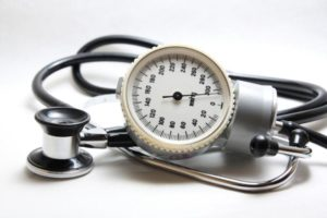 Blood pressure meter and stethoscope